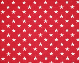 Star Fabric | Cotton Fabric | Home Decor Fabric | Quilt Fabric | Apparel Fabric |  Red With White Stars Fabric | Old Glory Fabric