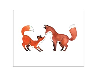 Nursery art print, printable art wall decor, baby room, woodland nursery, fox baby nursery, fox art, custom digital, DIY