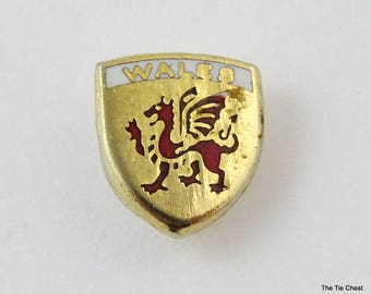 Heraldic Tie Pin Tack Small WALES Shield
