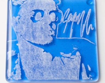 George Michael Fused Glass Coaster, Wham Coasters, Famous People Coasters