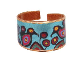 Flowers and Birds designed by Ojibwe Artist Norval Morriseau Native First Nations Indigenous Ring