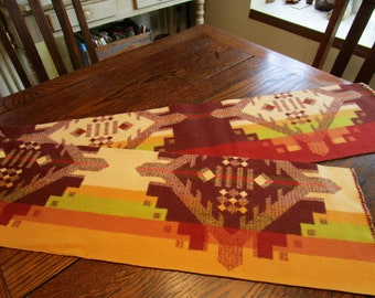 "Pendleton Wool Indian Blanket REMNANT NEW Fabric 8 3/4"" x 67"" Browns Tan Rust 303E"