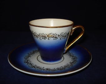 Demitasse cup and saucer.