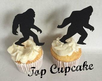 Bigfoot Cupcake Toppers -12