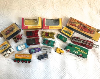 matchbox lot  . toy car lot . lot of 12 . Lesley . made in England