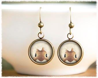Rabbit Earrings • Bunny Earrings • Peeking Rabbit Jewelry • Animal Lover Gift • Bunny Jewelry • Animal Jewelry
