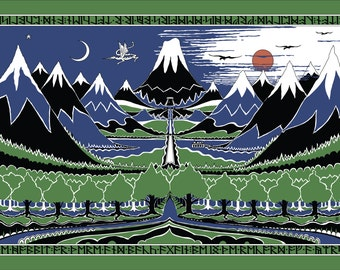 X-Large The Hobbit Cover cotton fabric: Lord of The Rings, The Hobbit