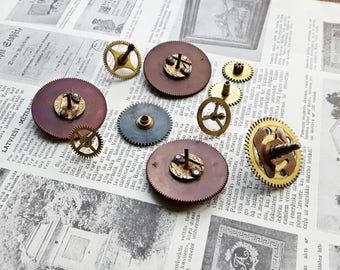 Vintage watch parts, Steampunk Gears, Bakelite Gears, Watch Gears,Steampunk supplies