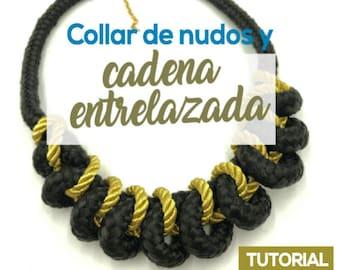 Collar de Nudos y Cadena Entrelazada Ebook PDF con Video Tutorial