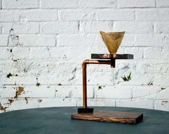Copper & Wood Coffee Pour Over