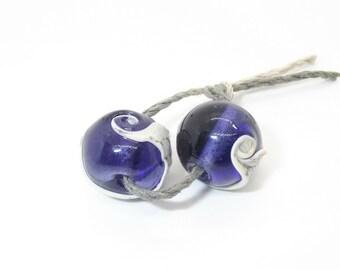 Handmade Purple Glass Bead pr - Prima Donna Beads
