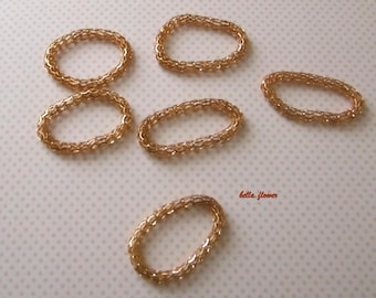 Ring connector rose gold mesh 5cm