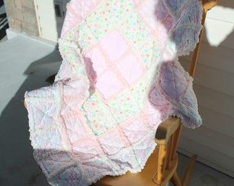 Rag quilt for baby girl