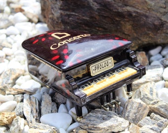 Plastic Grand Piano Music Box Jewelry Holder, Trinket Box