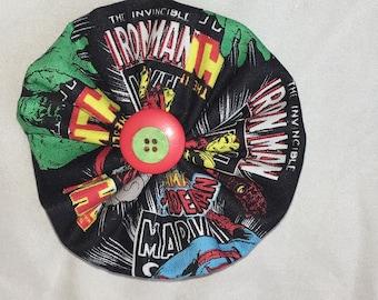 Comic Book Fabric Large Pinwheel Bow