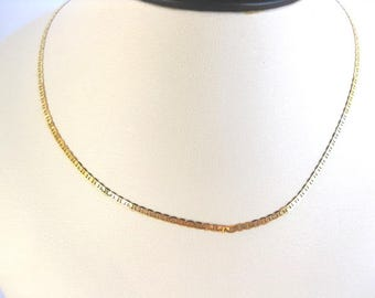 Rope Flat in 14k Plum  Yellow Gold Chain