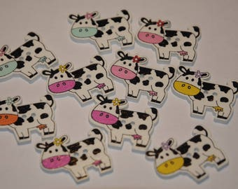 set of 10 fancy buttons