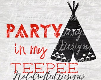 Teepee svg - Teepee png - Tribal svg - Tribal png - Silhouette cut file - Cricut cut file - Vinyl Plotter
