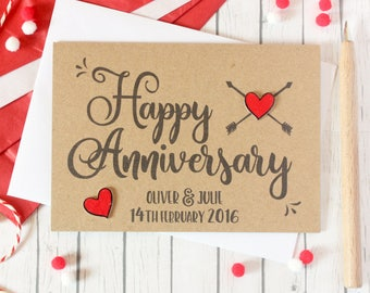 St anniversary card st wedding anniversary card paper