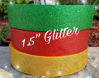 Glitter ribbon,  back to school ribbon,  school ribbon,  red ribbon,  glitter bows,Christmas ribbon