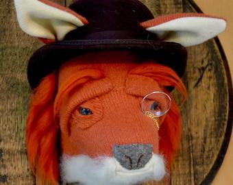 Textile fox head