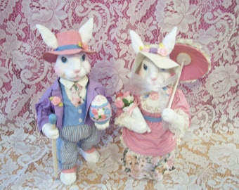Fancy Easter Bunny Couple Figures, Midwest