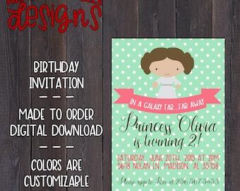 Princess Leia Birthday Invitation