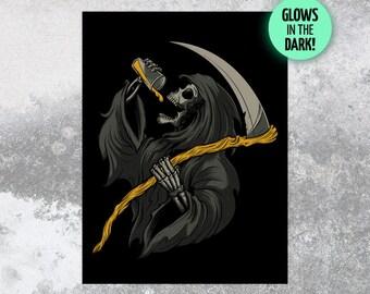 Drinkin' Reaper 18x24 Silk Screen Print