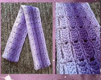 Purple Ombre Infinity Scarf