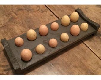 Primitive Wood Egg Holder