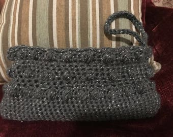 Crocheted Clutch Evening Purse
