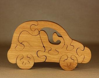 Wooden car puzzle