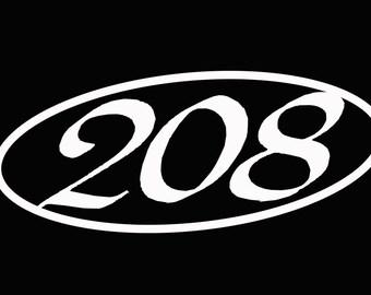 208 Oval Sticker- Cut Vinyl