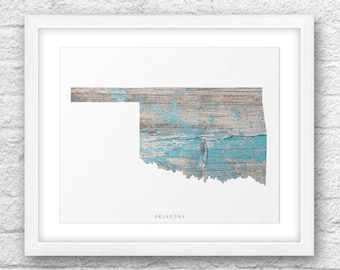 Oklahoma Map, Oklahoma Printable, Oklahoma Art, Oklahoma Map Art, Oklahoma Printable Art, Instant Download, Oklahoma Wall Art, Oklahoma