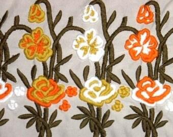destash vintage fabric ... FLORAL FAB FUN fabric 2 1/2 yds ...