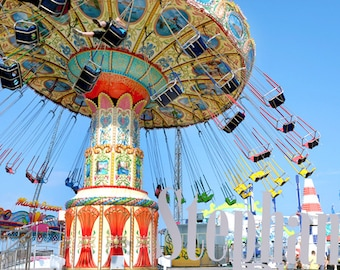 Stephanie Petersen Photography SWINGS Seaside Heights New Jersey Casino Pier swing ride color photograph