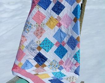 Prairie Patchwork Holly Hobbie Baby / Crib Quilt