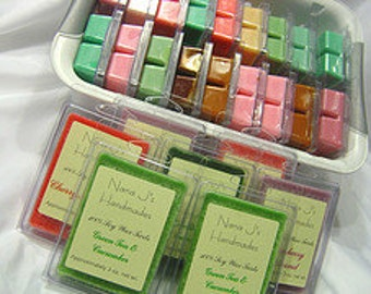 4 Six packs - Candle tarts-Clamshell -soy melts- triple scented. You choose 4 of your favorite scents.  Made by Nana J's Handmades
