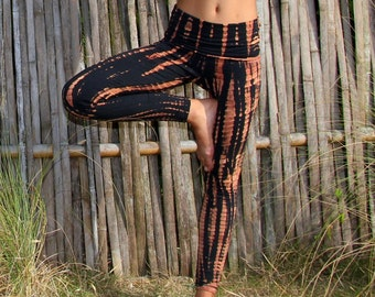 Fire Tie Dye Yoga Pants by Lotus Tribe Clothing / Women's Leggings / Tie Dye Leggings / Yoga Leggings / Yoga Leggings/Festival Leggings/Yoga