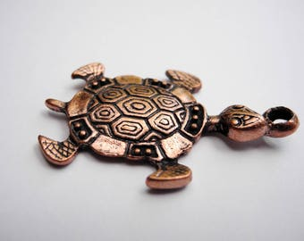 """Turtle"" copper charm"