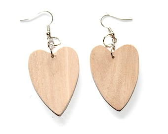CLEARANCE 3 Pairs of Wood Earrings, Unfinished Wood Earrings, Wood Jewelry, Ecofriendly Jewelry, Craft Supply