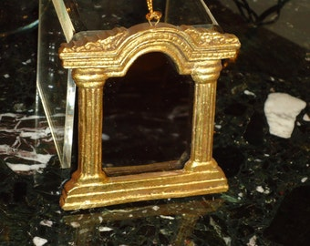 Vintage, Victorian Style,  Goldleaf Arched  Mirror, Christmas Ornament