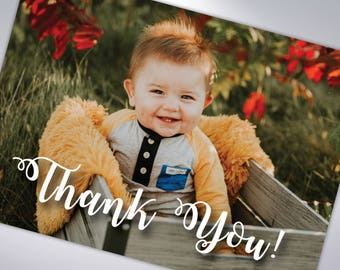 Baby Thank You Cards with Envelopes | Postcard Option Available | First Birthday Thank You Card | Kid Birthday Party Thank You