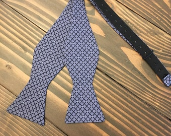Blue Bow Tie - Plaid Bow Tie - Self Tie Bow Tie
