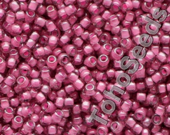 10g Toho Seeds Beads 11/0 Inside Color Amethyst Pink Lined TR-11-959 Rocailles size 11 rose pink