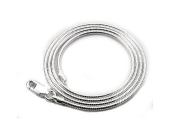 19 inch Sterling Silver 2mm Snake Chain Necklace