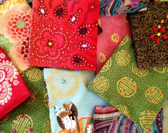 Buy 3 get one free! Handmade Reuseable Lavender Sachets. Assorted Patterns