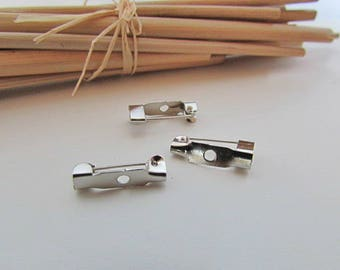 45 holder brooch or pin's silver color - 1.5 cm - 1.65