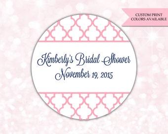 Bridal shower stickers - Bridal shower labels - Bridal shower favor stickers (RW019)