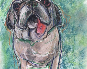 This is Chuck. You would be purchasing a custom sketch of your dog.